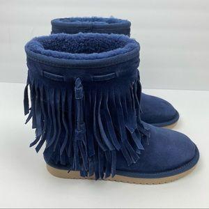 Ugg Koolaburra Cable Fringe Suede Boots
